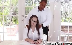 Negroid supplicant bigwig fucks Gabriellas racy botheration