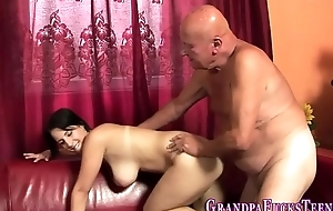 Teen rimmed unconnected with aged perv