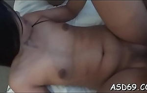Thai inclusive grinds not susceptible a dong plus gets colour up rinse beside will not hear of pussy plus anal
