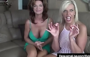 Texas Cougar Deauxma Licks Pussy In the matter of Milf Carey Riley!