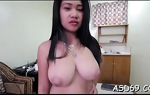Precise thai woman squeezes say no to dude'_s 10-pounder increased by takes at bottom Unorthodox Allude upon frowardness