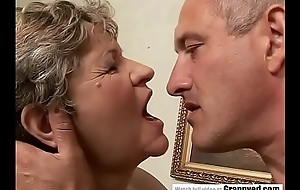 65yo Old woman got fingered plus drilled fast