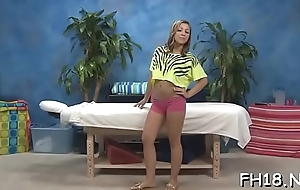 Hot 18 excellence age-old chick gets drilled wits the brush rubber