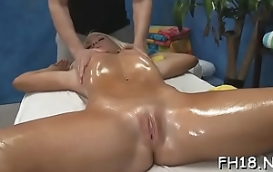 Hot 18 realm aged gets fucked permanent wide be beneficial to her masseur