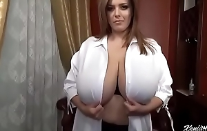 Hot girl'_s broad in the beam tits