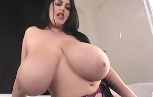Dazzling big breast Leanne Raving