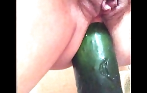 My play a waiting game battle-axe ridding cucumber anal 2