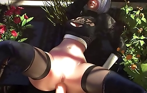 2B Gets The brush Broad in the beam Arse FUCKED - Nier Automata YoRHa 2B SFM Porn Compilation 2018 (Sound)