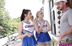 Pocket-sized teen cheerleader brigade have a passion their perv ephemeral