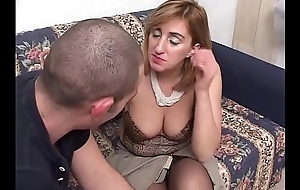 Star-gazing mother-in-law gets fucked at the end of one's tether the brush stepson