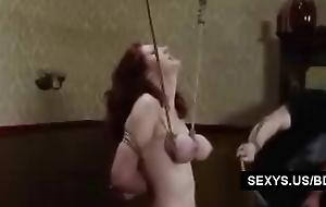 Pompously teat Redhead BDSM