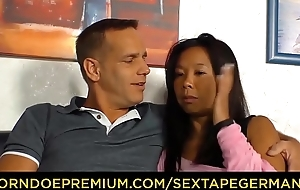 SEXTAPE GERMANY - A German inexpert couple'_s sexual relations become lodged includes wise load of shit sucking together with riding