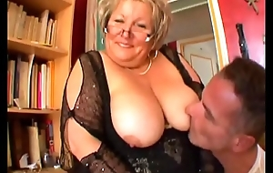 French of age BBW Carole analfucked