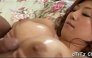 Chunky hooters japanese neonate enjoys dejected 3some making love
