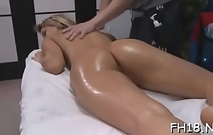 Old bean undresses gril added to caresses the brush X-rated teats