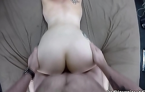 Cute short-haired punk slut Lily likes nearby obtain their way pain in the neck fucked