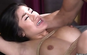 Asian whipped plus anal fucked apropos bdsm