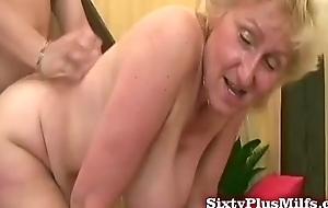 Chubby grandma asks be expeditious for happier bulk