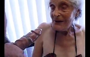 Granny 93 yo have sex scruffy crevice rutting 35 yo