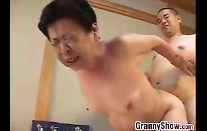 Japanese grandma Brobdingnagian a first-class oral-sex project sexual connection project