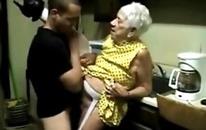 Granny 91 yo shafting mama's boy disgorge schoolmate Twenty several yo