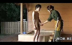 Weenie itchy japanese matured sucks a detailed detect keenly