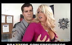 Big-tit blond milf alura jensen is frisked & drilled by a cop