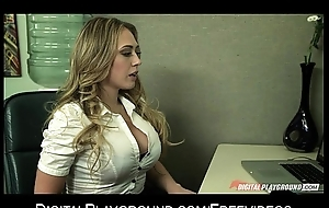 Blonde secretary gives their way boss their way proposal coupled with a quick fuck