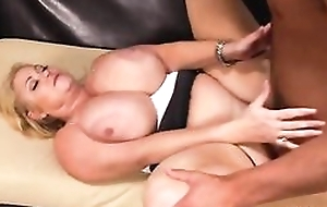 Chubby housewife with huge jugs fucks younger toff on the Davenport