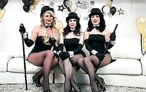 Three horny pornstars obtaining their fuck holes hammered