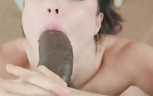 Teen has fun forth chunky black cock back hot blowjob and hardcore sex acts