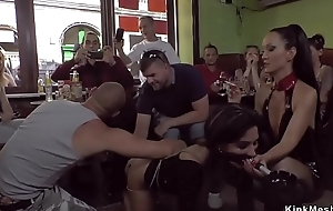 Lilliputian looker gangbang fucked less cafe