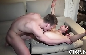 Hot coupled with roused gal blithely receives multiples be fitting of orgasms