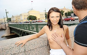 Public nudity scenes with raunchy sexual intercourse experiences where naked girls have public sexual intercourse working of ass fuck and extreme deep throat on touching fray of prominent a blowjob
