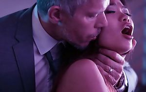 Superb Asian girl on touching snug cans banged by her sugar daddy