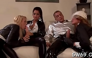 Sex-crazed dearly gets slimed elbow gloryhole ill feeling the brush pussy